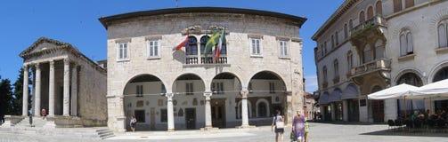 Quadrado da república, Pula, Croatia Fotografia de Stock Royalty Free