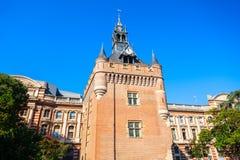 Quadrado da torre do Dungeon de Capitole, Toulouse foto de stock
