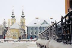 Quadrado da união em Timisoara fotografia de stock