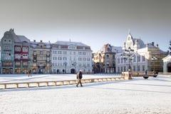 Quadrado da união em Timisoara Imagens de Stock