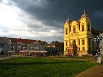 Quadrado da união, Timisoara, Romania Imagens de Stock