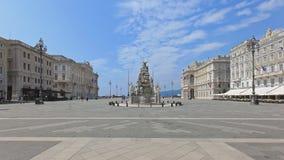 Quadrado da unidade de Trieste Imagens de Stock Royalty Free