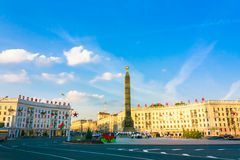 Quadrado da vitória em Minsk, Belarus Imagem de Stock