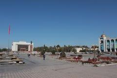 Quadrado de Alaa-too em Bishkek central, Quirguistão fotografia de stock