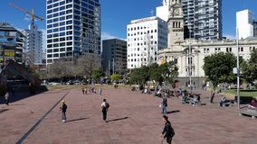 Quadrado de Aucklands Aotea fotografia de stock royalty free