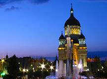 Quadrado de Avram Iancu, Cluj-Napoca, Romania. Imagem de Stock Royalty Free