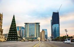 Quadrado de Azadliq em Baku, Azerbaijão fotografia de stock royalty free