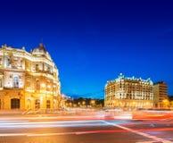 Quadrado de Azneft o 30 de maio em Baku, Azerbaijão Fotos de Stock Royalty Free