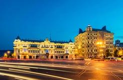 Quadrado de Azneft o 30 de maio em Baku, Azerbaijão Fotografia de Stock Royalty Free