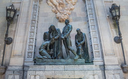Quadrado de Bachs Garriga em Barcelona Foto de Stock