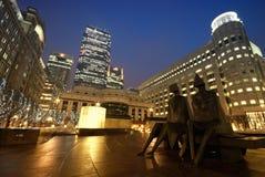 Quadrado de Cabot, Londres Foto de Stock Royalty Free