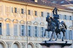 Quadrado de Carlo de Saint em Turin Fotografia de Stock
