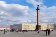 Quadrado de cidade central de St Petersburg, Rússia Foto de Stock