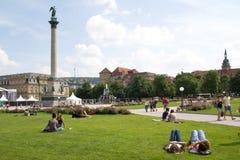 Quadrado de cidade de Schlossplatz Fotografia de Stock Royalty Free