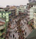 Quadrado de cidade em Gangtok Imagens de Stock