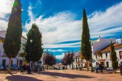 Quadrado de cidade na cidade de Ronda Foto de Stock