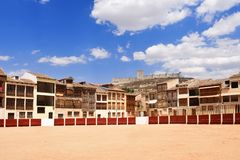 Quadrado de Coso de Penafiel, província de Valladolid, Castilla-Leon, imagens de stock