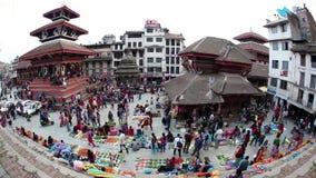 Quadrado de Durbar em Kathmandu video estoque