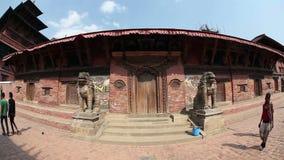 Quadrado de Durbar em Patan vídeos de arquivo