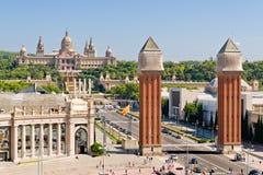 Quadrado de Espanya em Barcelona Fotografia de Stock Royalty Free