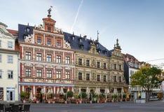 Quadrado de Fischmarkt, Erfurt, Alemanha Foto de Stock