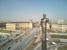Quadrado de Gagarin Monumento ao primeiro cosmonauta Yuri Gagarin fotografia de stock