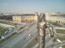 Quadrado de Gagarin Monumento ao primeiro cosmonauta Yuri Gagarin imagem de stock royalty free