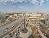 Quadrado de Gagarin Monumento ao primeiro cosmonauta Yuri Gagarin imagens de stock royalty free