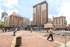 Quadrado de Ganghi em Joanesburgo África do Sul imagem de stock