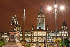 Quadrado de George, Glasgow Fotografia de Stock Royalty Free