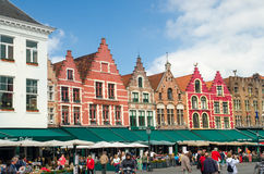 Quadrado de Grote Markt Bruges (Bruges) Bélgica Fotografia de Stock