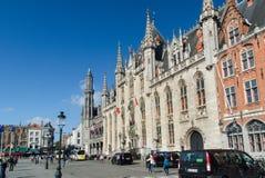 Quadrado de Grote Markt Bruges (Bruges) Bélgica Fotografia de Stock Royalty Free