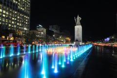 Quadrado de Gwanghwamun em Seoul, Coreia Foto de Stock Royalty Free