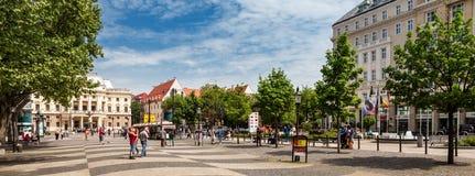 Quadrado de Hviezdoslav em Bratislava, Eslováquia fotos de stock