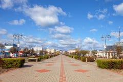 Quadrado de Kosciuszko em Gdynia Fotos de Stock Royalty Free