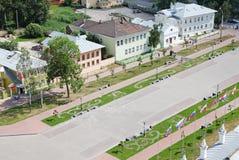 Quadrado de Kremlin com casas Foto de Stock