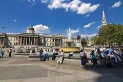 Quadrado de Londres - de Trafalgar Fotografia de Stock Royalty Free