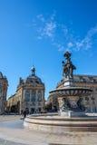 Quadrado de Lugar de la a Bolsa no Bordéus, França Imagens de Stock Royalty Free