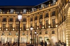 Quadrado de Lugar de la a Bolsa no Bordéus, França Fotos de Stock Royalty Free