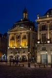 Quadrado de Lugar de la a Bolsa no Bordéus, França Foto de Stock Royalty Free