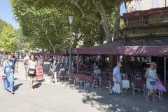 Quadrado de Lugar de la Rotonde, Aix-en-Provence, França Fotos de Stock Royalty Free