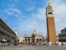 Quadrado de marca de Saint em Veneza, Italy Foto de Stock