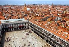Quadrado de marca de Saint, Veneza imagem de stock royalty free