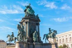 Quadrado de Maria Theresia em Viena Fotos de Stock Royalty Free