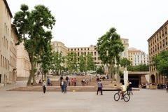 Quadrado de Mazeau em Marselha, França Fotografia de Stock