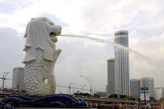Quadrado de Merlion em Singapura Fotos de Stock Royalty Free