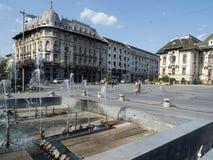 Quadrado de Mihai Viteazu, Craiova, Romênia fotografia de stock royalty free