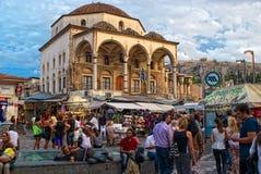 Quadrado de Monastiraki em Atenas, Greece Fotografia de Stock