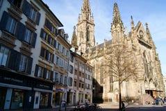 Quadrado de Mulhouse Fotos de Stock Royalty Free
