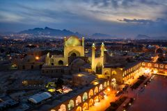 Quadrado de Naqsh-e Jahan em Isfahan, Irã, Januray recolhido 2019 hdr recolhidos fotografia de stock